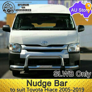 Heavy Duty Aluminium OEM Nudge Bar to suit Toyota Hiace VAN 2005-2019 SLWB ONLY