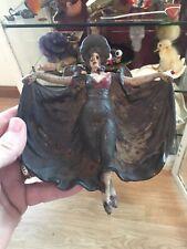 Antique Art Nouveau Cast Iron Dancing Lady Trinket Tray