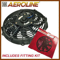 "12"" Aeroline® 12v 120w Electric Engine Slim Radiator Cooling Fan + Fitting Kit"