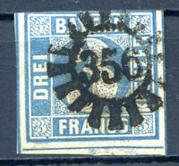 "GERMANY BAVARIA Mi # 2 I a ""356"" CACHET Used VF"
