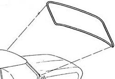 New 63-65 Ford Falcon Comet Windshield Weatherstrip