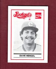 DAVE HENGEL ~ 1989 Chattanooga Lookouts LEGENDS II Regional History Museum card