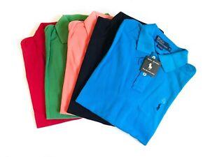 Classic Polo Ralph Lauren Mens Polo Short Sleeve Black Teal White Red (M, L, XL)