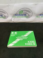 Genuine Owners Manual Kawasaki KX 85 CE/DE Motorcross Bike 2