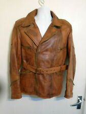 BRAND NEW DISTRESSED LEATHER MOTORCYCLE JACKET SIZE XS