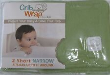 Trend Lab Crib Wrap Rail Cover Green 2 Short Narrow Side Covers new in pkg