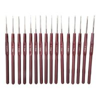 Ultra-fine Lace Crochet Hook Set Stainless Steel Knitting Needle DIY Sewing Tool