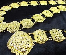 GOLD PLATED COSTUME WOMEN BELT VINTAGE THAI TRADITIONAL FASHION CHAIN WEDDING #2