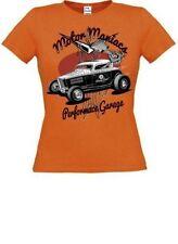 T-shirt, maglie e camicie da donna a manica corta arancione in cotone