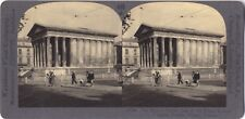 Maison Carrée Nîmes France Photo Stereo Vintage Argentique