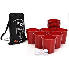 Yard Pong Giant Pong Game Set w/ Carry Bag Outdoor & Backyard Game for Family