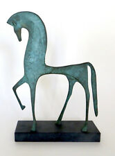 Beautiful MCM Bronze Etruscan Horse Sculpture in Perfect Condition