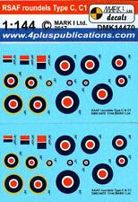 Mark I Decals 1/144 ROYAL SOUTH AFRICAN AIR FORCE ROUNDELS TYPE C & C1