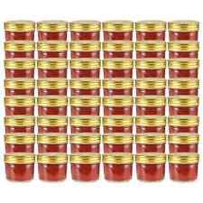 vidaXL 48x Jampot met Goudkleurige Deksel Glas Jampotten Glazen Opbergpot Pot