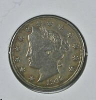 1912 Liberty V Nickel AU Grade Coin Awesome Luster
