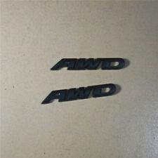 2PCS Matte Black AWD Metal Badge Sticker Emblem Decal Turbo 4x4 All Wheel Drive