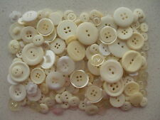 Ivory cream off white buttons mixed sizes 100 grams