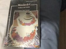WONDERART STAMPED TABLE RUNNER PRE-FINISHED QUALITY STAMPED GOODS