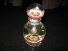 RARE Vintage Art Glass  MILLEFIORI Paperweight  PERFUME BOTTLE HAND BLOWN