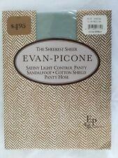 Nos Vtg Sheer Evan-Picone Satiny Hose Pantyhose Blue Shadow Usa New Slim/Medium
