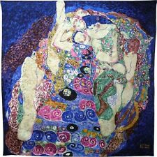 SCARF SILK GUSTAV KLIMT BLUE YOUNG GIRLS WIEN AUSTRIA NEW ART EGON SCHIELE