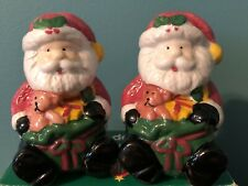 Santa Claus Christmas Holiday Salt and Pepper Shakers