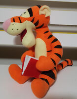 DISNEY WINNIE THE POOH TIGGER WITH BOOK PLUSH TOY SOFT TOY 20CM TALL