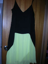 City Chic stretch black & pleated yellow Dress size M NEW WITH TAGS RRP$119.95