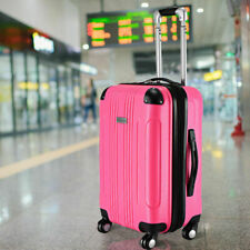"""GLOBALWAY Expandable 20"""" ABS Luggage Carry on Travel Bag Trolley Suitcase New"""