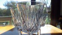 Crystal Wine Water Glasses Goblets cut pineapple design faceted stem 4 8oz stems