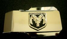 Back Money Clip-Free Engraving Dodge Ram Silver Hinged Locking