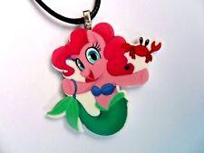 Unusual  My Little Pony Pinkie Pie as Ariel // Mermaid Leather Necklace