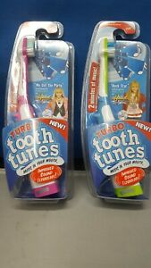 Lot of 2 Turbo Tooth Tunes Battery Toothbrush Hannah Montana sings