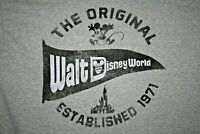 The Original Walt Disney World Established 1971 Gray T-Shirt Large Mickey Mouse