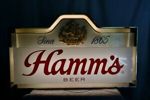 1960's HAMMS Beer Double Sided Lighted Advertising Sign Tavern Bar Man Cave