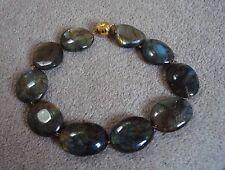 LAURENCE COSTE Labradorite Pebbles necklace cm 45