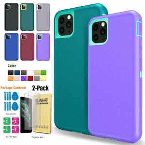 For iPhone 11 Pro Max XS XR 6 7 8 Plus 360° Shockproof Hybrid Bumper Case Cover
