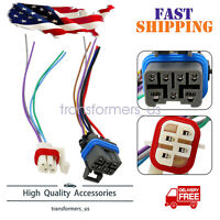 2PCS Neutral Safety Switch Connector Wire Harness 7-PIN &4-PIN For Chevrolet GMC