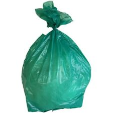 PlasticMill 33 Gallon, Green, 1.2 Mil, 33x39, 100 Bags/Case, Garbage Bags.