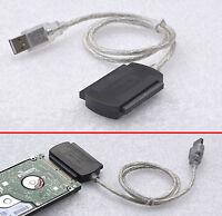 """KABEL ADAPTER v. USB 1.1 2.0 USB 3.0 AUF IDE 2,5"""" 6,35cm NOTEBOOKFESTPLATTE VL-9"""