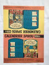 SPIROU - Supplément Journal Calendrier 1958 - BD - FRANQUIN JIDEHEM - DUPUIS