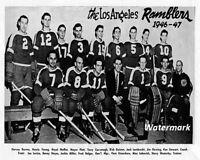 WIHL 1946 - 47 Los Angeles Ramblers Team Picture Black & White 8 X 10 Photo Pic