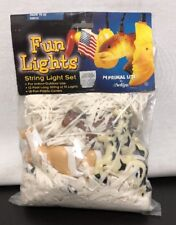 2002 Rarin to Go Fun String Lights Set Horses Plastic Light Covers Primal Lite