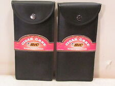 2008 2 PCS. BIC CIGAR CASE HOLDS 2 TO 3 CIGARS OR TOBACCO NEW