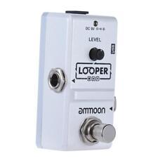 ammoon AP-09 bucle efecto guitarra eléctrica pedal Looper 10 min grabación W0U6
