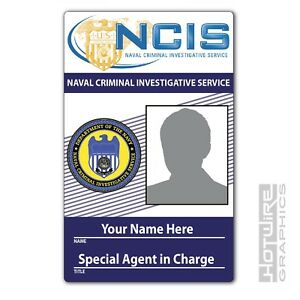PERSONALISED Printed Novelty ID- NCIS Prop Badge Special Agent - TV Show