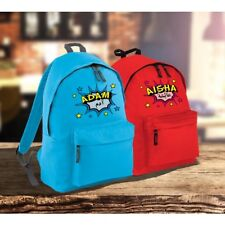 Personalised Comic Pow Childrens Backpack with Arabic Name, Eid, Birthday Gift