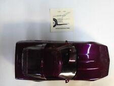 New Mint in Box ERTL Metalic Purple 1995 Chevy Corvette ZR-1 Promotional Model