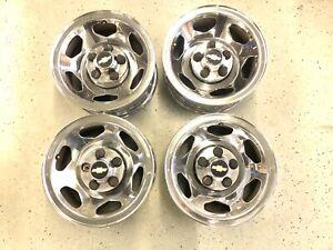 "1988 - 1999 GMC 1500 SS Sport 454 OEM 15"" CHROME Steel 5x5 Wheel Rims Center Cap"