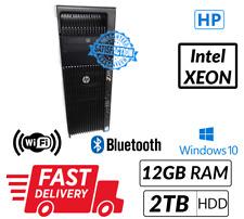 Cheap HP Z620 Intel Xeon E5 1620@3.70 GHz 12GB 2TB Win 10 Free Next Day Delivery